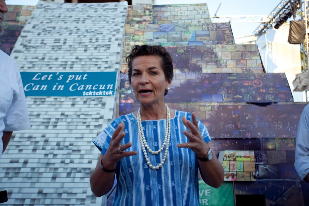 The day before the international climate negotiations kick off in Cancun, the global TckTckTck campaign and its partners presented UNFCCC Executive Secretary Christiana Figueres with a six by three metre Mayan style ÒPyramid of HopeÓ. The monument with the message ÒLetÕs put the Can in Cancun!Ó is made of crucial building blocks for a safe climate on which negotiators gathering in Cancun should agree so we can move towards a strong global climate regime. Pyramids were built through collective will, and the ÒPyramid of HopeÓ serves as an affirmation of this collective will, showing what we can achieve if we work together. It is a message from tens of thousands of people all around the world and represents their aspirations for concrete action and real progress in Cancun. The pyramid is covered with photographs of these people getting active in their communities to tackle climate change. Examples of the key building blocks include a climate fund to support low-carbon development and adaptation to climate impacts in vulnerable countries, the need to close the gap between emission cuts needed and those pledged by countries so far, a shared vision that limits global warming to 1.5¼C, and a deal to protect forests as crucial carbon sinks. Christiana Figueres will make her mark and set the cornerstone, representing the spirit of solidarity and compromise needed to hold it all together. ÒThere is a huge global movement of people demanding a low-carbon future and sending a clear signal that politicians have a mandate to take the bold steps needed to tackle climate change,Ó said Paul Horsman, TckTckTck Campaign Director. ÒOur pyramid represents the collective will of millions of people around the world who demand action. They are rolling up their sleeves and making a difference in their lives, and they want negotiators to show the same spirit and deliver the building blocks for success.Ó  Photos: Ivan Castaneira/tcktcktck